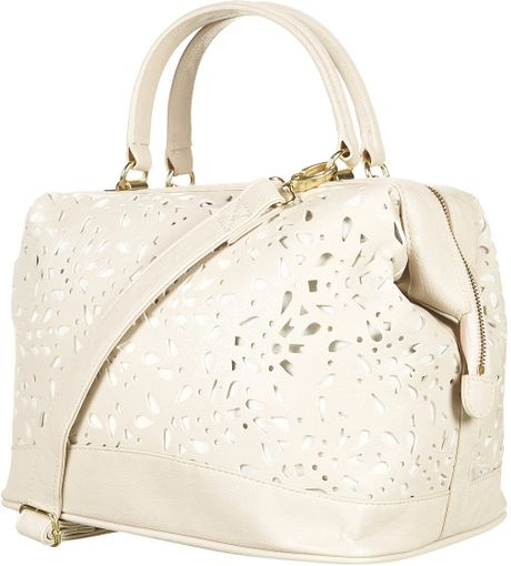Topshop Cutout Holdall Bag in Beige (cream) - Lyst