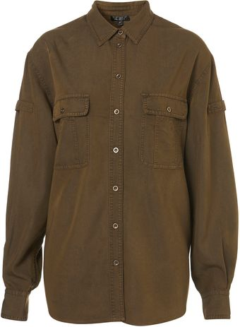 Topshop Casual Military Shirt - Lyst