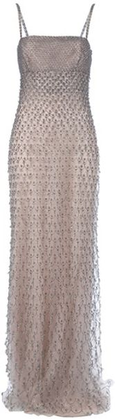 Valentino Beaded Gown in Pink