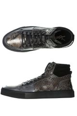 Yves Saint Laurent Python High Top Trainers - Lyst