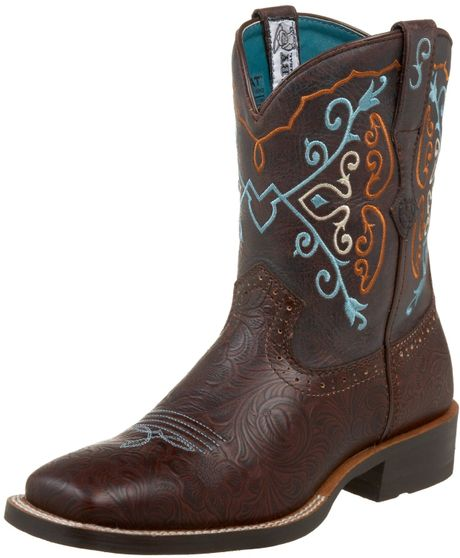 ariat ariat womens rodeobaby square toe boot in brown