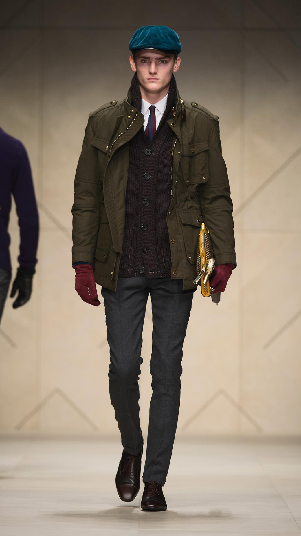 Lyst Burberry Prorsum Waxed Cotton Field Jacket In Brown