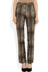 Giambattista Valli Animalprint Wool and Silkblend Pants in Animal - Lyst