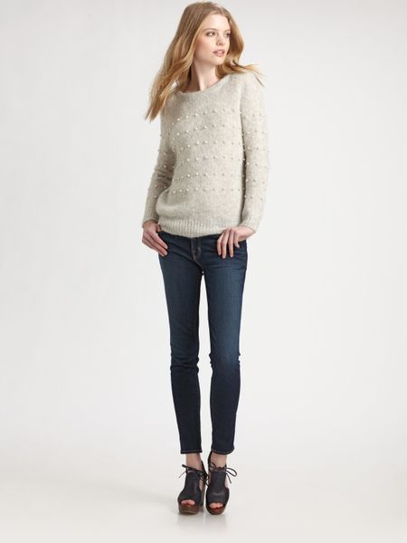 Girl. By Band Of Outsiders Boatneck Pullover in Gray (grey) - Lyst