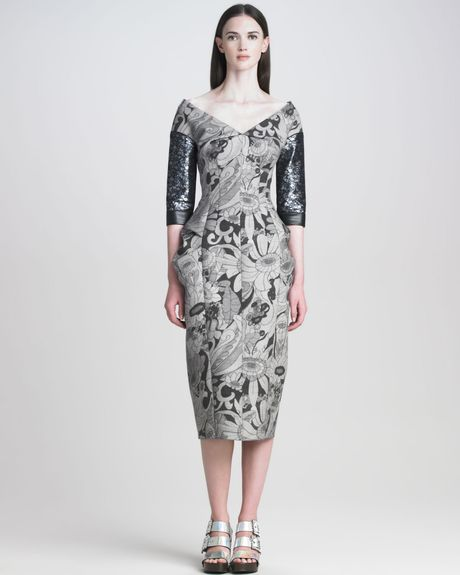 Marc Jacobs Womens Cartoon Flower Printed Dress in Gray - Lyst