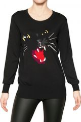 Markus Lupfer Merino Wool Cat Sweater - Lyst