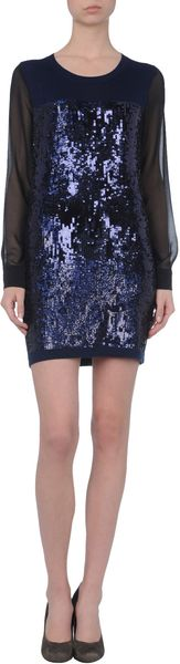 Markus Lupfer Short Dress in Blue - Lyst