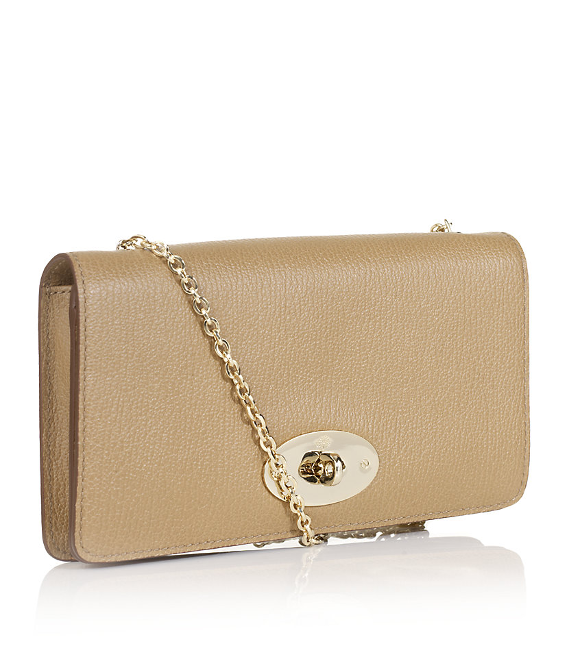 ... store mulberry bayswater clutch in natural lyst c5dbd 227d8 ... f047a10fe3abb