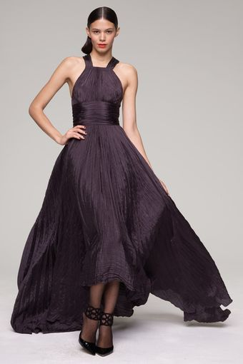 Oscar de la Renta Pleated Gown - Lyst