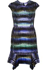 Peter Pilotto Pek Printed Silksatin Dress - Lyst
