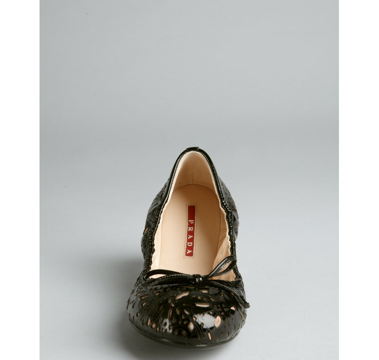 outlet clearance Prada Patent Leather Laser Cut Flats clearance manchester great sale for nice cheap online outlet cheapest price BQXJ6v