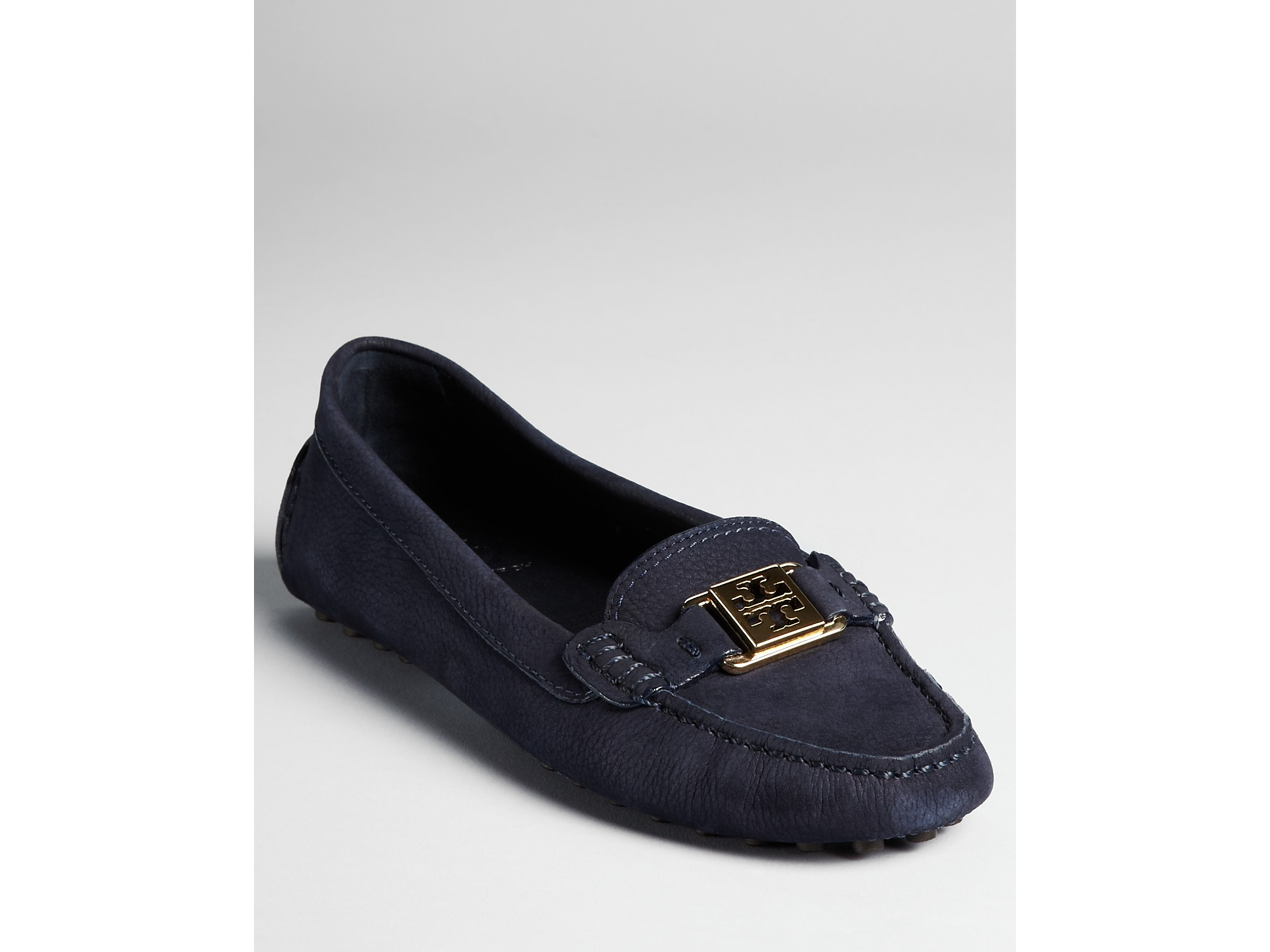 Lyst - Tory Burch Loafers Kendrick Driving Moc in Blue 4d59292ac519