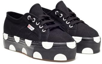 House Of Holland Superga Polka Dot Platform Trainers - Lyst