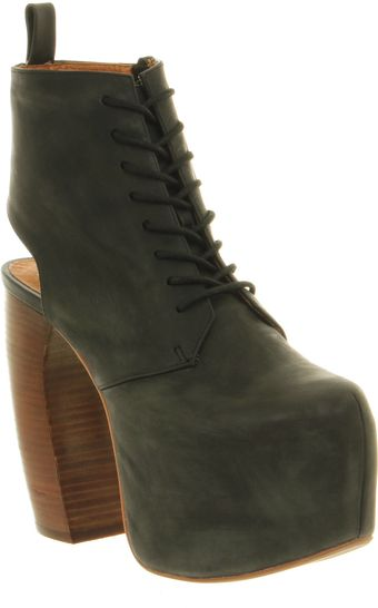 Jeffrey Campbell Lana Black Leather - Lyst