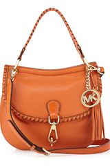 Michael by Michael Kors Bennet Flap Crossbody Bag Tangerine - Lyst