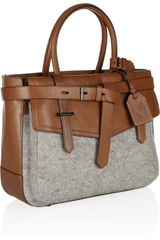 Reed Krakoff Boxer Leather and Felt Tote in Gray - Lyst