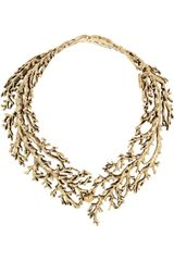 Aurelie Bidermann Aphrodite Gold Plated Tree Branch Necklace - Lyst