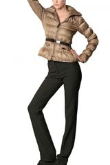Burberry Sutherland Belted Technical Satin Jacket in Gold (beige) - Lyst
