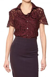 Burberry Lace Stretch Top - Lyst