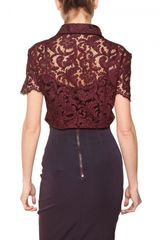 Burberry Lace Stretch Top in Floral (bordeaux) - Lyst