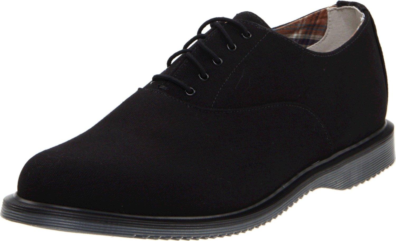 dr martens weldon laceup shoe in black for black
