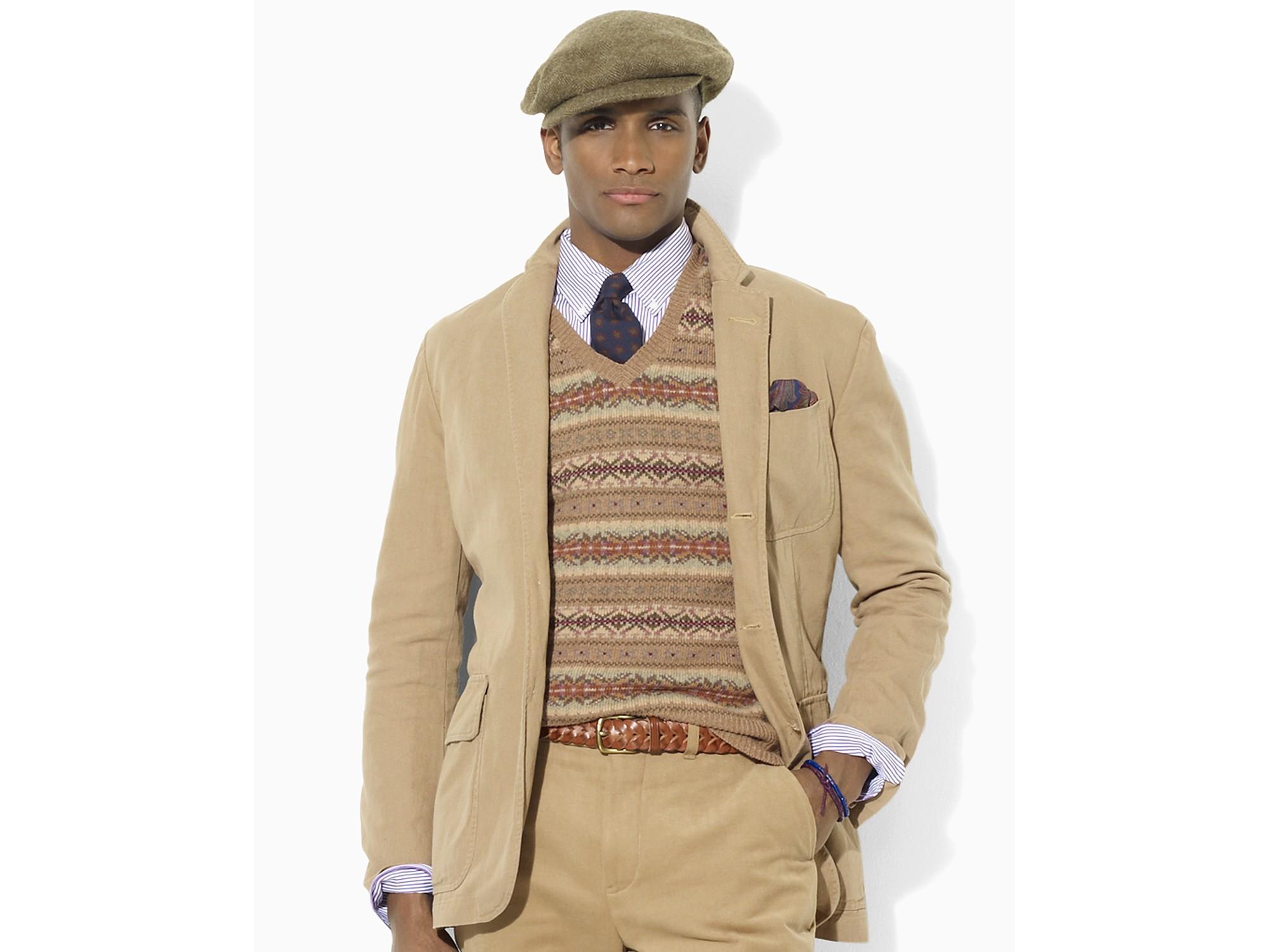 b566f8c0f3ea62 Lyst - Polo Ralph Lauren Langley Organic Chino Sport Coat in Natural ...