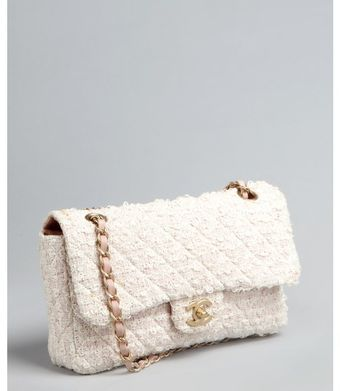 Chanel Pink Matelasse Tweed Chain Strap Vintage Shoulder Bag - Lyst