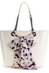 Dkny Scarf North South Shopper in Beige (ivory/pink) - Lyst