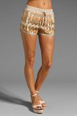 Haute Hippie Chevron Sequin Boxer Short - Lyst