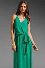 Haute Hippie Faux Wrap Halter Dress - Lyst