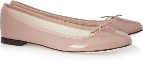 Repetto Bb Patentleather Ballet Flats in Pink (lavender)