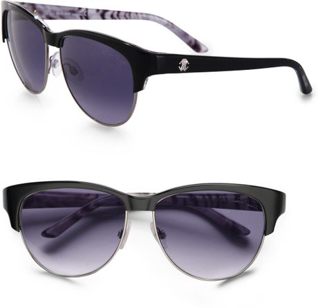 Roberto Cavalli Melograno Animal Print Sunglasses in Black