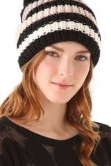 Sonia Rykiel Striped Pompom Hat - Lyst