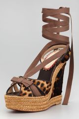 Christian Louboutin Isabelle Calf Hair Wedge - Lyst