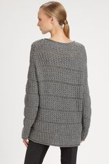 Donna Karan New York Alpacasilk Top in Gray (pewter) - Lyst