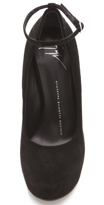 Lyst Giuseppe Zanotti Sculptural Wedge Pumps In Black