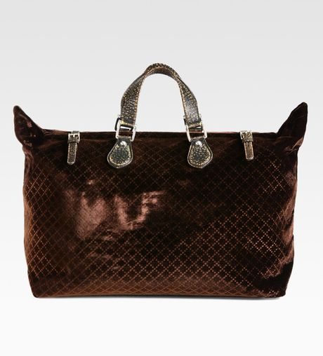 Gucci Goldmark Velvet Diamante Tote in Brown for Men - Lyst