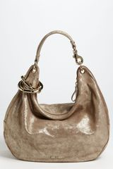 Jimmy Choo Solar Large Metallic Leather Hobo - Lyst