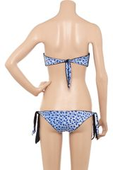 Just Cavalli Reversible Bandeau Bikini in Blue - Lyst