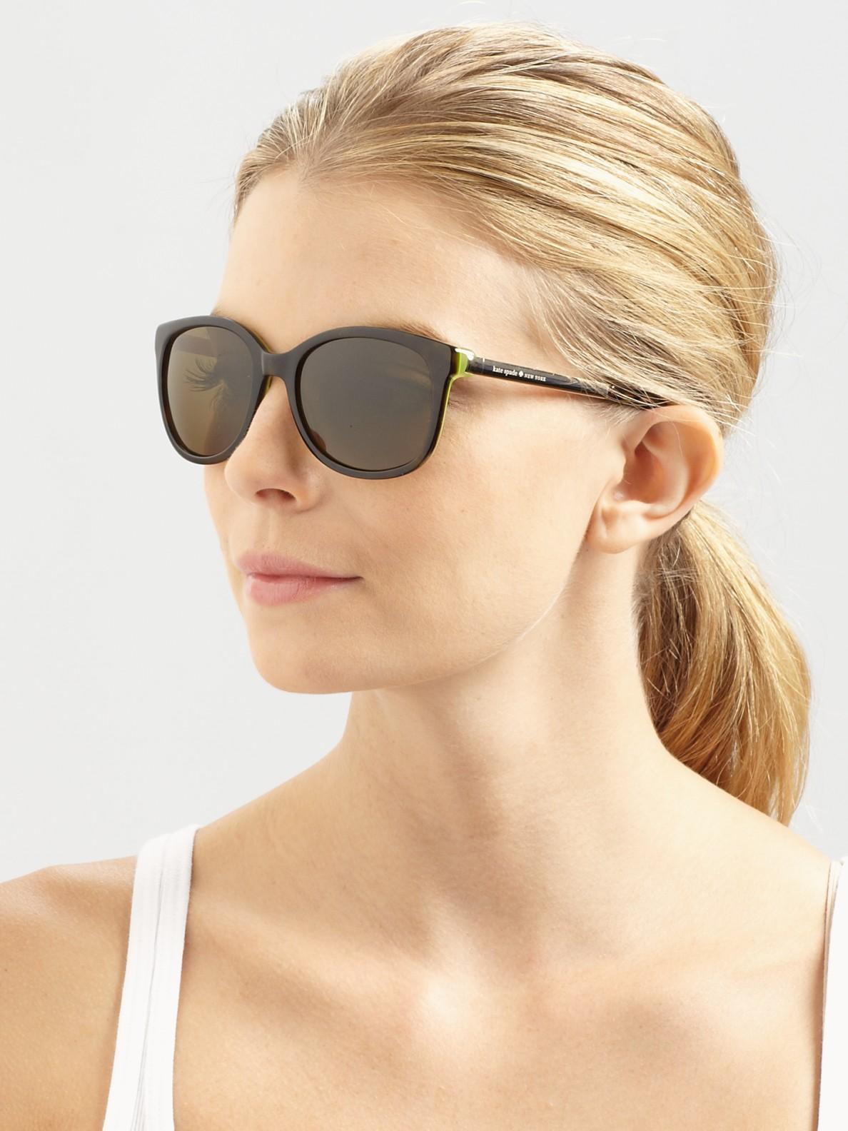 ef6d519f61 Lyst - Kate Spade Gayla Plastic Metal Wayfarer-Inspired Sunglasses ...