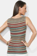 Lauren By Ralph Lauren Stripe Boatneck Sweater in Red (red multi) - Lyst