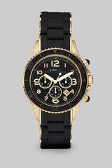Marc By Marc Jacobs Silicone Rose Goldtone Ip Stainless Steel Chronograph Watch - Lyst