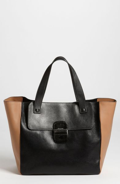 Marc Jacobs Khaki Tote in Gray (anthracite/ camel) - Lyst