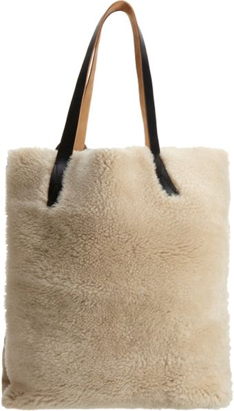 Marni Shearling Tall Hobo - Lyst
