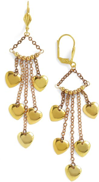 Modcloth Coeur For The Common Gold Earrings in Gold - Lyst