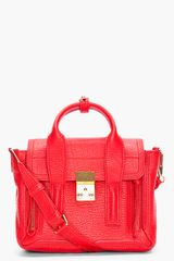 3.1 Phillip Lim Mini Red Pashli Satchel in Red - Lyst