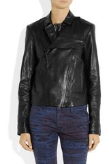 Alexander Wang Leather Biker Jacket in Black - Lyst