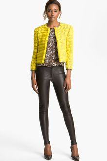 Alice + Olivia Celeste Collarless Jacket - Lyst