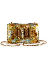 Christian Louboutin Sweety Charity Metallic Python Mini Shoulder Bag - Lyst