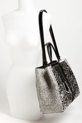 Fendi 2jours Calf Hair Shopper in Black (white/ black) - Lyst